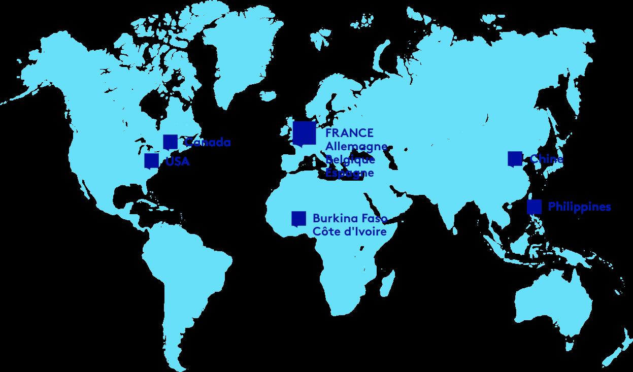 Carte des implantations Bayard